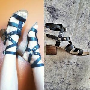 "Topshop ""Valley"" Gladiator   black leather sandals"